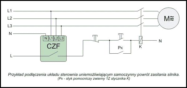 Czujnik zaniku fazy CZF