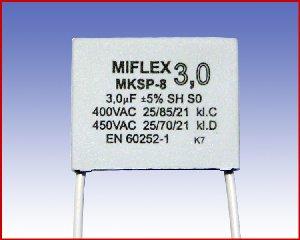 Kondensator silnikowy MKSP-8, 3,0µF