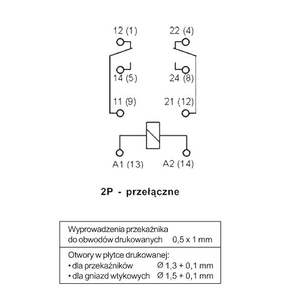 Przekaźnik R2M 2P 12 DC