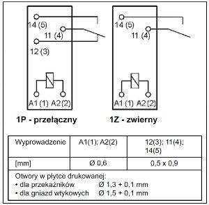Przekaźnik RM87N 1P 24 DC