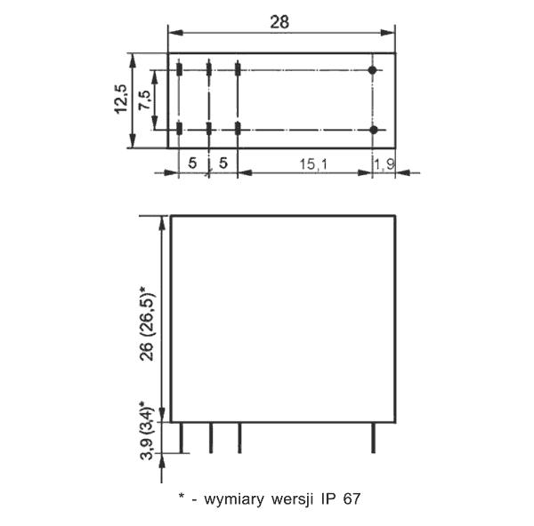 Przekaźnik RM94 2P 48 DC S, czuły