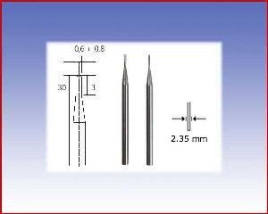 Frezy z węglika wolframu. Ø0,6 i Ø0,8
