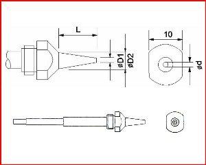 Dysza 1,0S do rozlutownicy DENON SC-7000Z.(50-01-16)