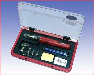 Lutownica gazowa profesjonalna Aries ES640SI, zestaw
