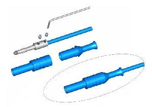 W pełni Izolowany wtyk 4mm, spełniający szereg norm bezpieczeństwa, ELECTRO-PJP 1065 GE (żółty), Nr. 68