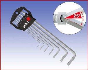 Zestaw kluczy trzpieniowych sześciokątnych z końcówką kulistą Wiha w uchwycie 7-cz. 369 H7