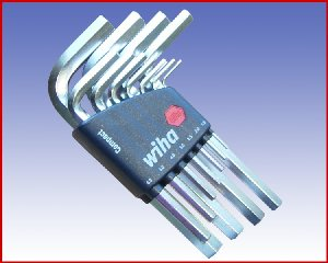 Zestaw kluczy trzpieniowych sześciokątnych Wiha w uchwycie 11-cz. 351 H11