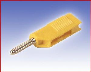 Izolowany wtyk 4mm z dodatkowym gniazdem 4mm, Hirschmann BSB 20 GE (żółty), Nr. 10