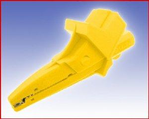 W pełni Izolowany krokodylek z gniazdem 4mm, spełniający szereg norm bezpieczeństwa, ELECTRO-PJP 5004/LM-IEC GE (żółty), Nr. 54