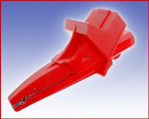 W pełni Izolowany krokodylek z gniazdem 4mm, spełniający szereg norm bezpieczeństwa, ELECTRO-PJP 5004/LM-IEC RT (czerwony), Nr. 54