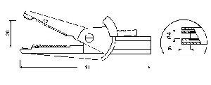 W pełni Izolowany krokodylek z gniazdem 4mm, spełniający szereg norm bezpieczeństwa, ELECTRO-PJP 5004/LM-IEC SW (czarny), Nr. 54