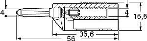 Izolowany wtyk 4mm z dodatkowym gniazdem 4mm, Hirschmann BSB 20 SW (czarny), Nr. 10