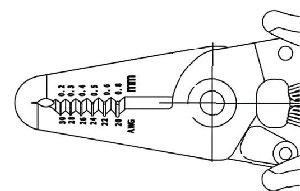 Ręczne szczypce do ściągania izolacji, PIERGIACOMI CSP-30-1  0,05 - 0,5 mm² (30 – 20 AWG)