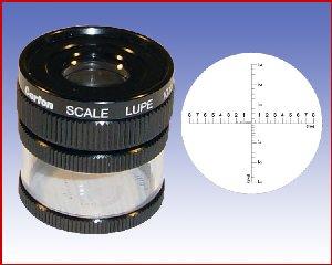 Lupa x10 stojąca z podziałką 0,1mm, model: M1210 skala 1