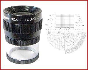 Lupa x7 stojąca z podziałką 0,1mm, model: M1207 skala 4