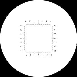 Lupa x15 stojąca z podziałką 0,1mm, model: TEL015