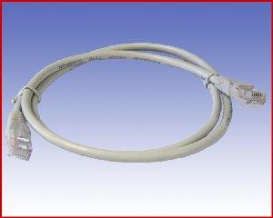 Przewód Patchcord UTP-5e 1,0 m szary