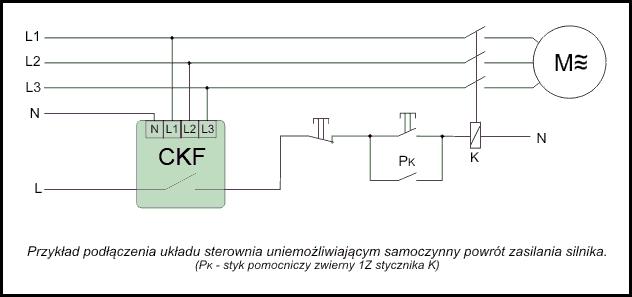 Czujnik kolejności i zaniku faz CKF-316