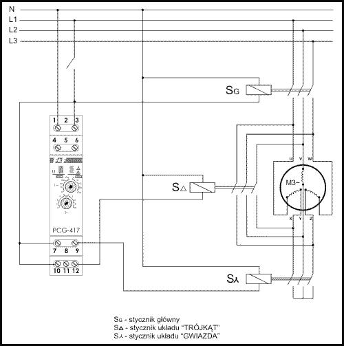 Przełacznik GWIAZDA-TRÓJKĄT PCG-417