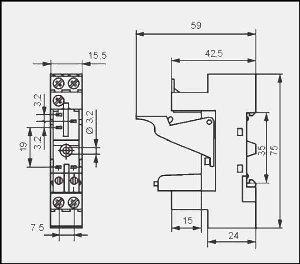 Gniazdo wtykowe ES32 (GZ96)