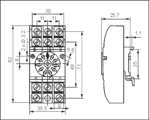 Gniazdo wtykowe GZU11