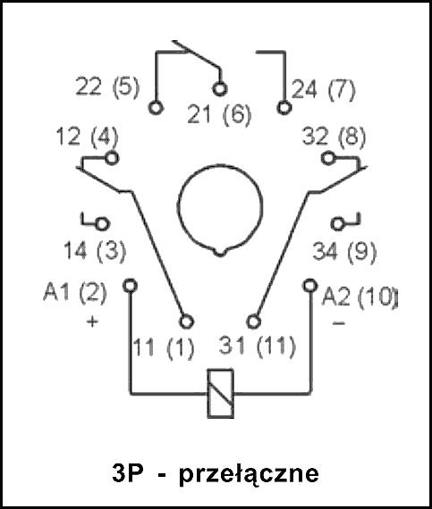 Przekaźnik R15 3P 220 DC WT