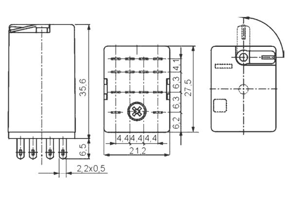 Przekaźnik R4 P 48 DC WT