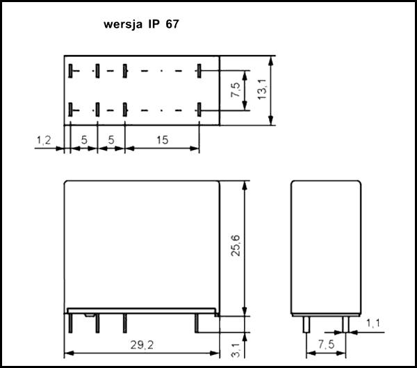 Przekaźnik RM83 1P 05 DC