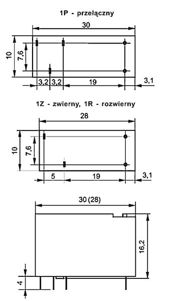 Przekaźnik RM96 1P 12 DC W