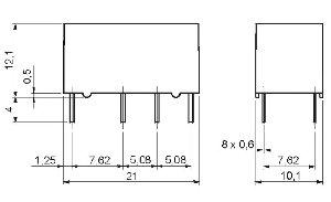 Przekaźnik RSM822 2P 12 DC 6112-85-S012
