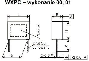 Kondensator przeciwzakłóceniowy WXPC-104K, 0,1µF