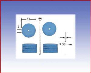 Elastyczne polerki silikonowe: koło.