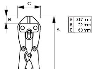 Wysokiej klasy nożyce do drutu BAHCO 2559