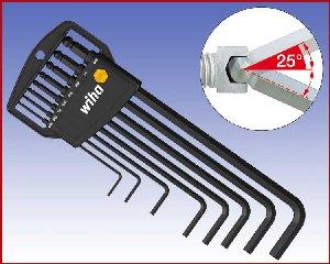 Zestaw kluczy trzpieniowych sześciokątnych z końcówką kulistą Wiha w uchwycie 8-cz. 369 HZ8 Calowe