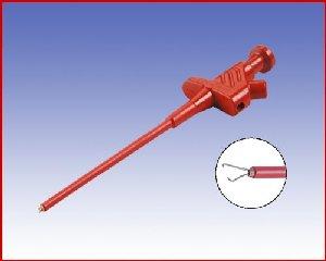 Elastyczny chwytak pazurkowy z gniazdem 4mm, Hirschmann KLEPS 30 RT (czerwony), Nr. 1