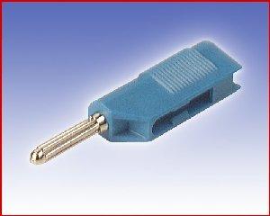 Izolowany wtyk 4mm z dodatkowym gniazdem 4mm, Hirschmann BSB 20 BL (niebieski), Nr. 10