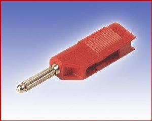 Izolowany wtyk 4mm z dodatkowym gniazdem 4mm, Hirschmann BSB 20 RT (czerwony), Nr. 10