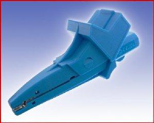 W pełni Izolowany krokodylek z gniazdem 4mm, spełniający szereg norm bezpieczeństwa, ELECTRO-PJP 5004/LM-IEC BL (niebieski), Nr. 54