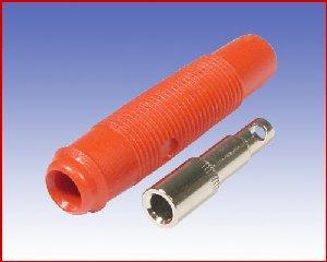 Izolowane gniazdko kablowe Ø4mm, Hirschmann KUN 30 RT (czerwony)