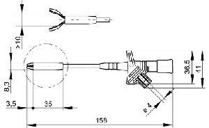 Chwytak krokodylowy z gniazdem 4mm, Hirschmann KLEPS 2800 RT (czerwony), Nr. 3