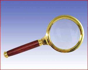 Metalowa lupa z rączką w kolorze złotym ø60