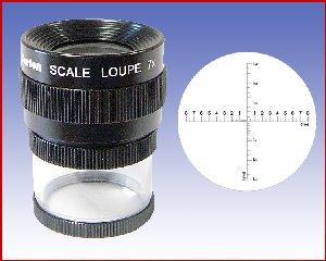 Lupa x7 stojąca z podziałką 0,1mm, model: M1207 skala 1