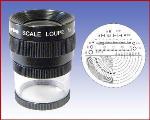 Lupa x7 stojąca z podziałką 0,1mm, model: M1207 skala 3