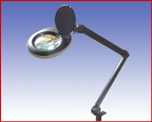 Lupa lampa, model: LED N1B 80LED czarna